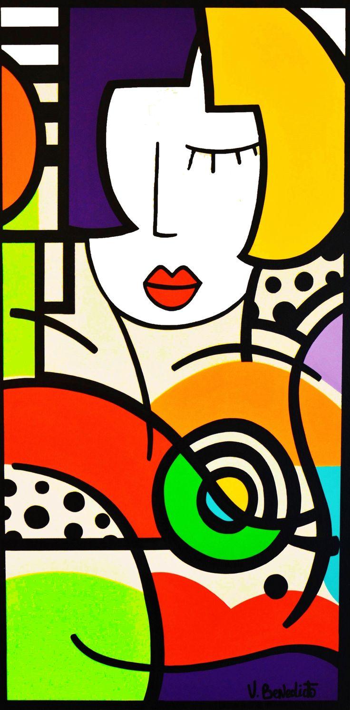 Virginia BENEDICTO - Disco - Acrylique sur toile - 100 x 50 cm