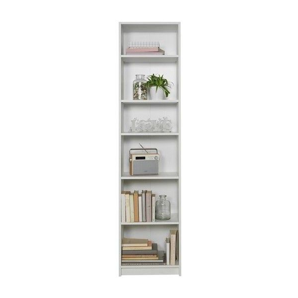 home maine 5 shelf half width extra deep bookcase white 67 cad liked on polyvore featuring home furniture storage u0026 shelves bookcases 5 tier