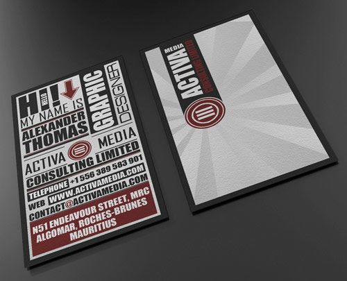 16 typo business card in Inspiring Double Sided #Business #Cards