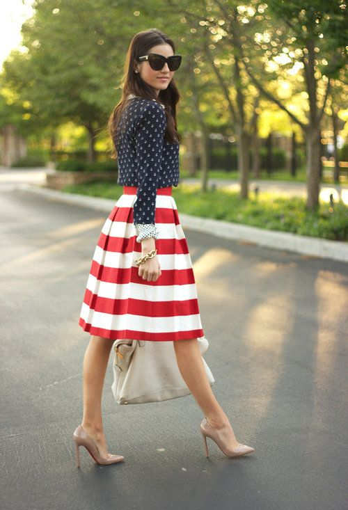 Mrs. Nautical…  , House Of Harlow in Glasses / Sunglasses, J Crew in Shirt / Blouses, Christian Louboutin in Heels / Wedges, Michael by Michael Kors in Bags
