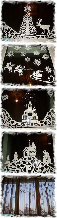 Вырезание - Украшаем окна к Новому году или Новогодняя сказка на окне » Поиск мастер классов, поделок своими руками и рукоделия на SearchMasterclass.Net