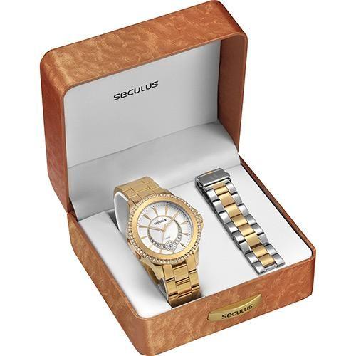 [AMERICANASMOB]Relógio Feminino Seculus Analógico Social 20149lpspds1 - R$125,99