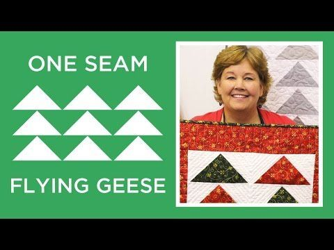 One Seam Flying Geese (Missouri Star Quilt Company - YouTube)