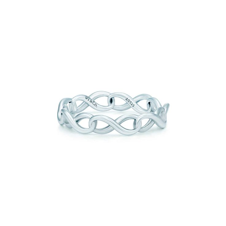 Tiffany Infinity narrow band ring in sterling silver | Tiffany & Co.