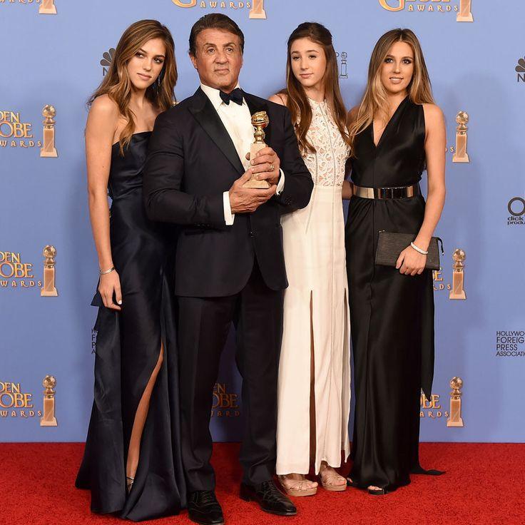 Sylvester Stallone's three daughters named Miss Golden Globe 2017, joining past A-list offspring