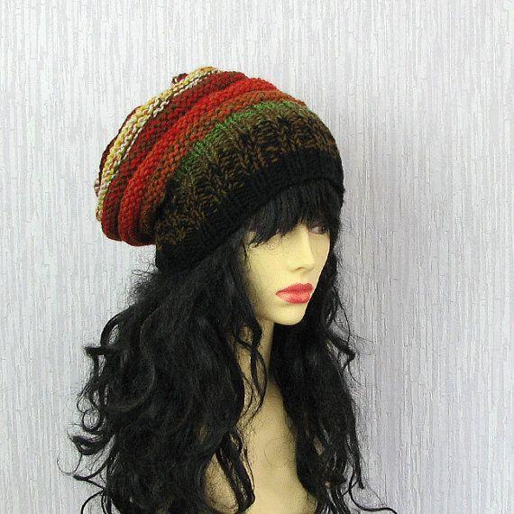 Womens Hat Hand knit hat Slouchy Beanie hat by AlbadoFashion