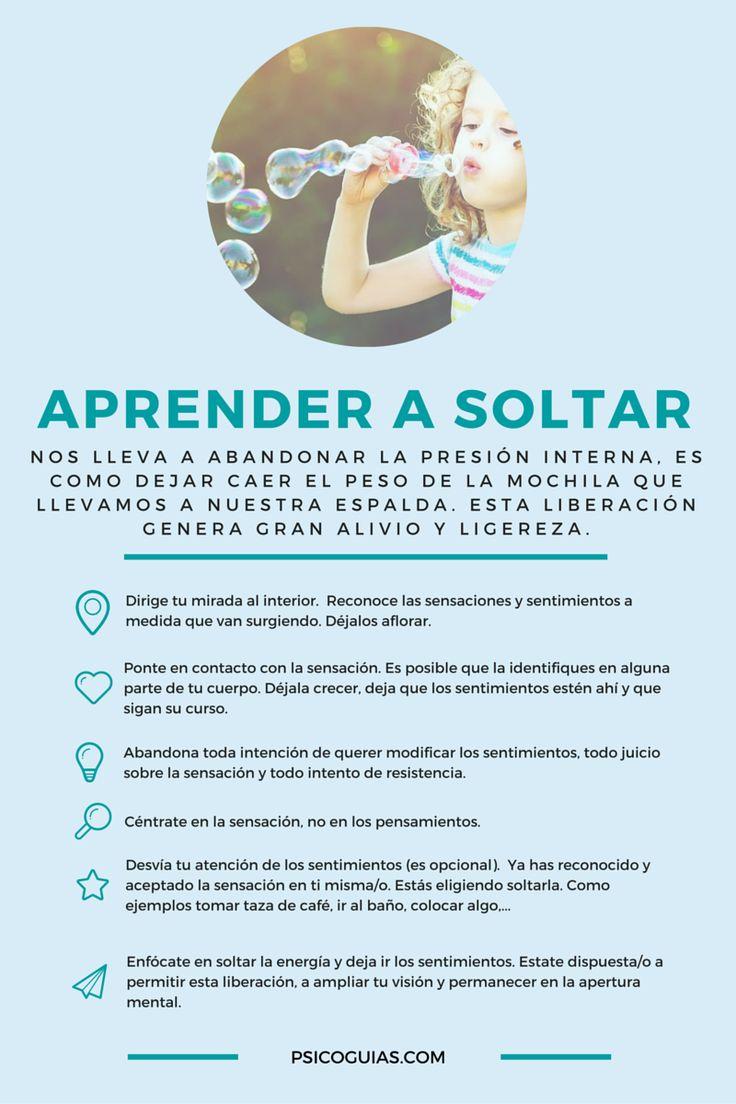 Infografía sobre Aprender a Soltar Más