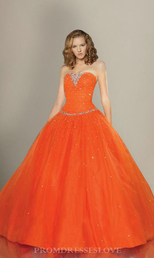 Evening Dresses On Sale | ... Orange Evening Dress Prom Party Formal Gown For Sale | Wedding Dresses