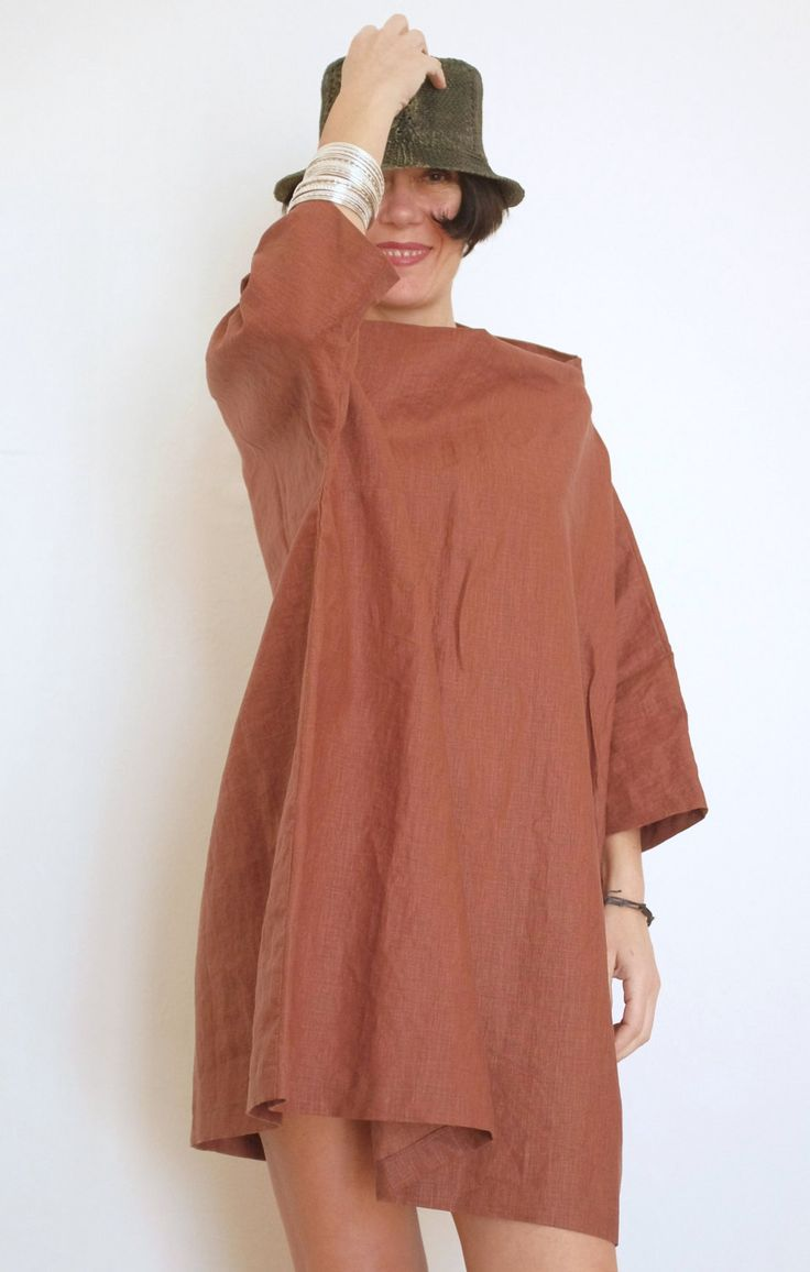 Un preferito personale dal mio negozio Etsy https://www.etsy.com/it/listing/226403879/tunica-in-lino-maglia-in-lino-xxl-taglie