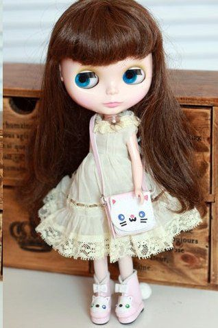 Animal Handbag and Boots For  Blythe , azone, Momoko, Lati, Licca , jerryberry | Doll Bag | Doll Accessories