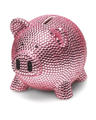 Trumpette rhinestone piggy bank bloomingdale 39 s piggy files cause i love me some piggies - Rhinestone piggy bank ...