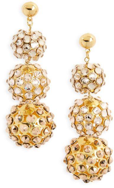 FRASIER STERLING Sunset Swarovski Crystal Drop Earrings