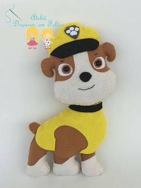 arte em feltro, artesanato em feltro, craf felt handmade, craft felt, felt, felt handmade, patrulha canina feltro, patrulha canina molde, paw patrol felt