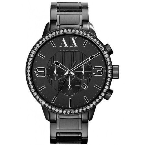 15 best ideas about armani exchange mens watch handsome urban watch > armani exchange men s watch swarovski ip black steel chrono