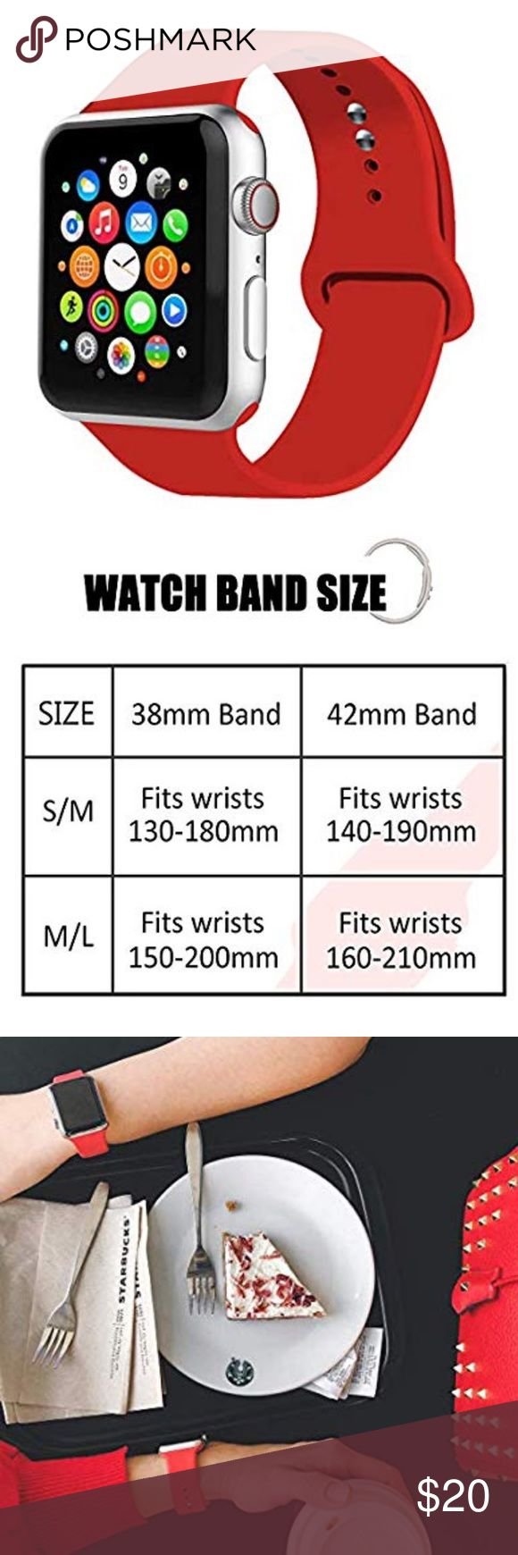 Silicone Sport Band for Apple Watch Red 38mm Apple watch