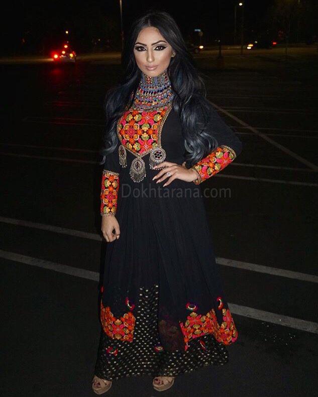 #afghan #style #dress #black