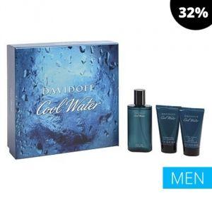 Davidoff - Cool Water for Men 75ml EDT Spray / 50ml After Shave Balm / 50ml Shower Gel
