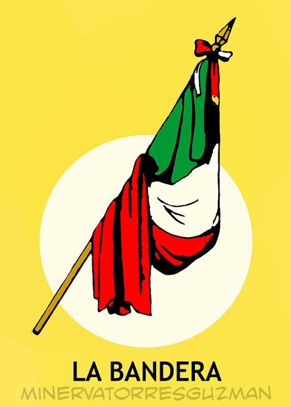 La Bandera Loteria Mexican Pop Art Print  Ask a question $20.00 USD. CA
