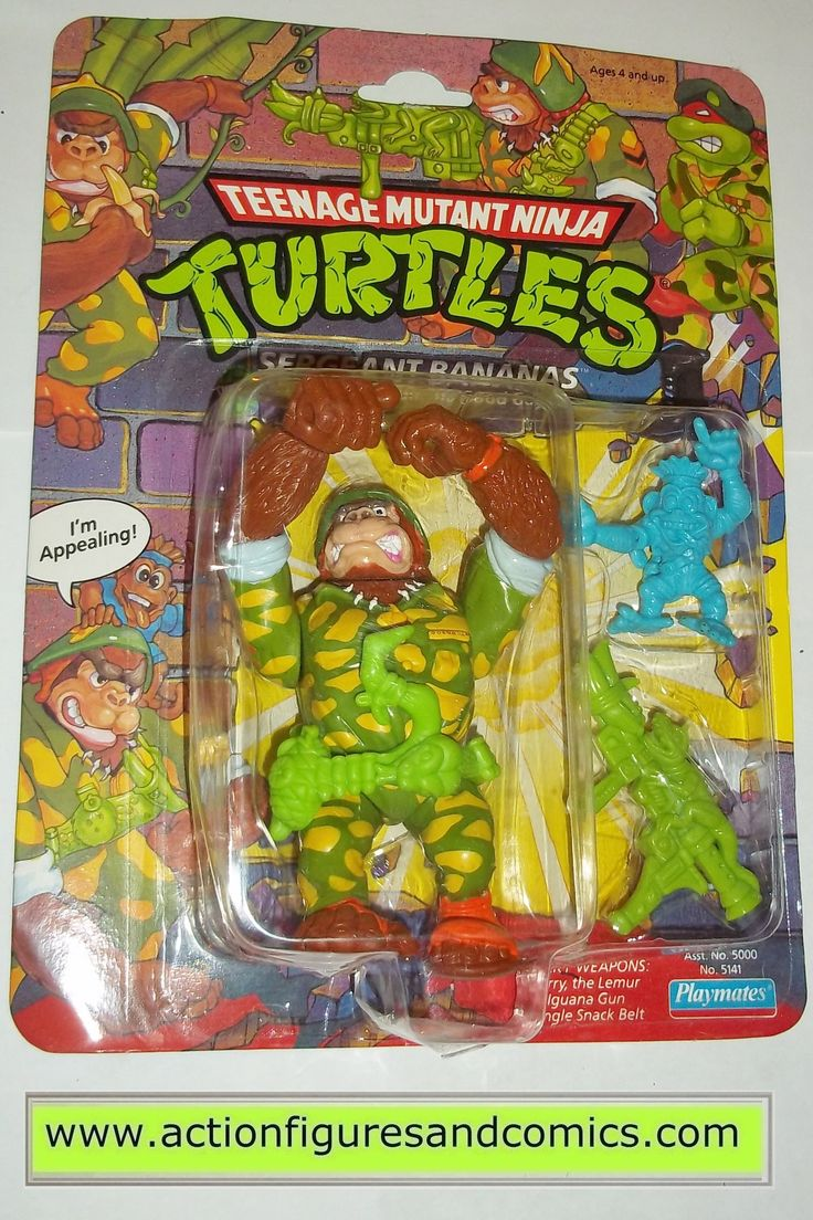 Playmates toys action figures for sale to buy: TEENAGE MUTANT NINJA TURTLES TMNT (vintage original series) 1991 SERGEANT BANANAS New - still factory sealed in the original package Package condition: P