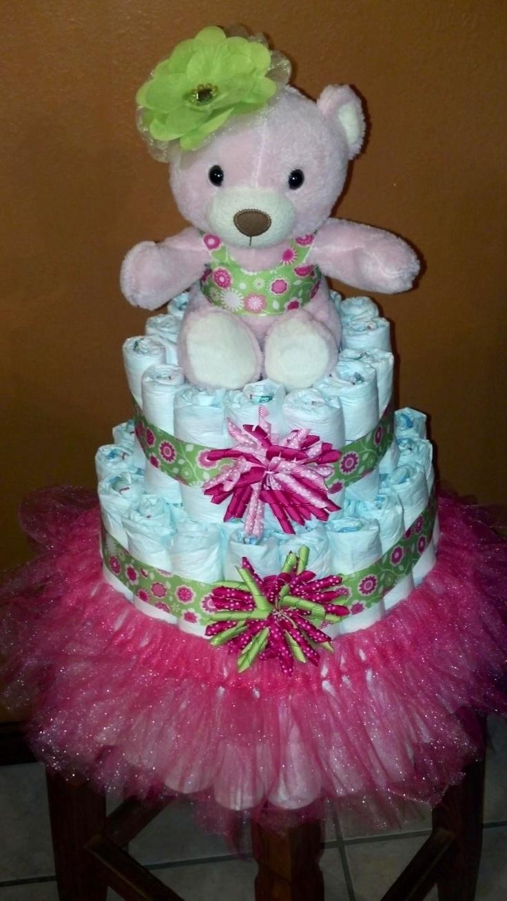 tutu diaper cake diaper cake pinterest diaper cakes tutus and