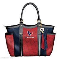 125700001 - Touchdown Texans! Designer Style Shoulder Tote