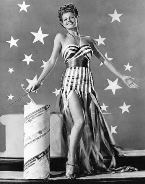 Rita Hayworth - Celebrating the 4th of July - Stars and Stripes - Firecracker