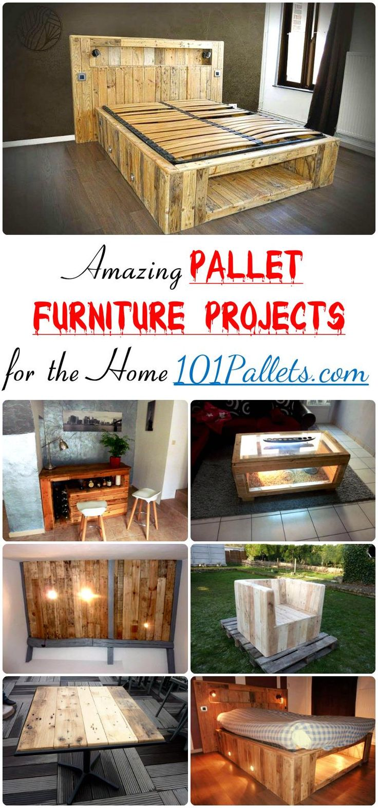 Amazing Pallet Furniture Projects for Home | 101 Pallets - Pallet furniture…