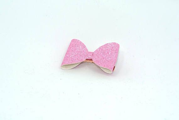 baby girl hair accessories light pink bow clips small