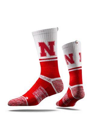 Nebraska Cornhuskers Split Crew Socks