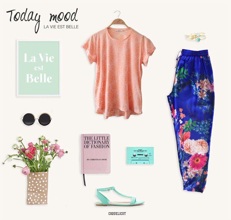 Today Mood   La vie est belle  #ss14 #coquelicot #flowers #look