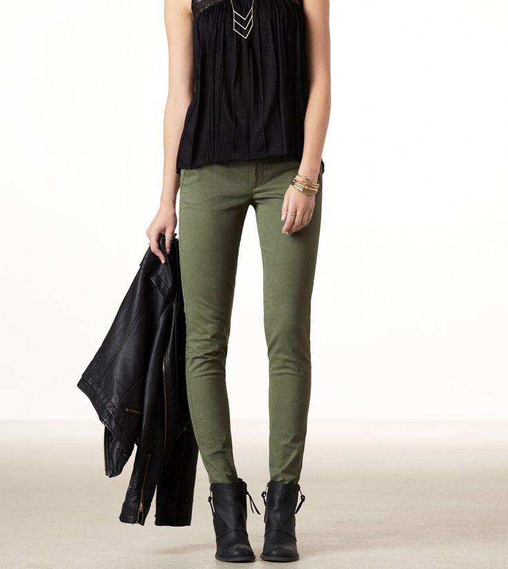 Olive pants paired with a cue oversized sweater :) | Fashionista ...
