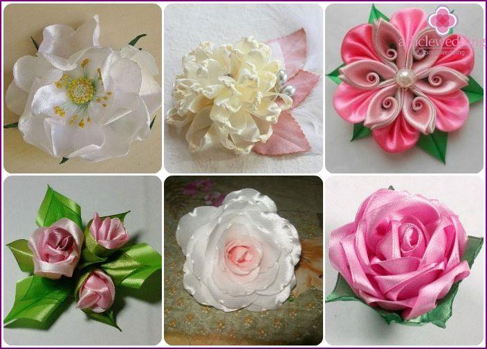 Kaip padaryti, kad gėlės iš audinio su savo rankas: žingsnis meistras klasę į gamybos, nuotraukos