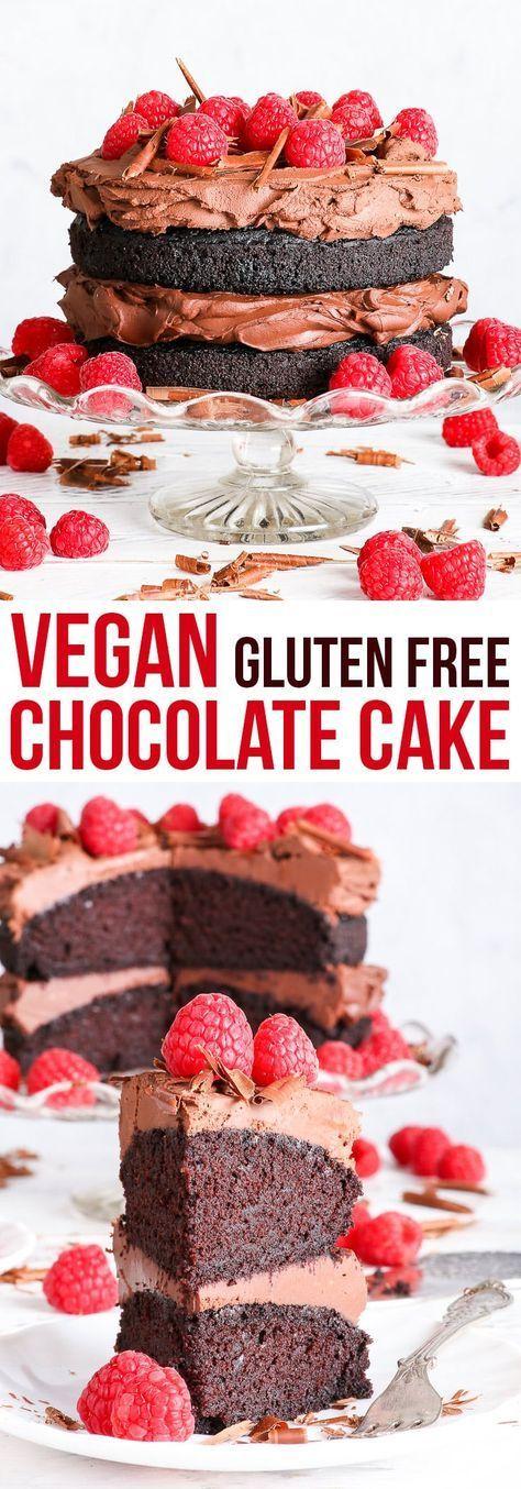Le meilleur gâteau végétalien au chocolat sans gluten {sans gluten, sans produits laitiers, sans œuf, sans noix et sans soja, …   – Healthy foods