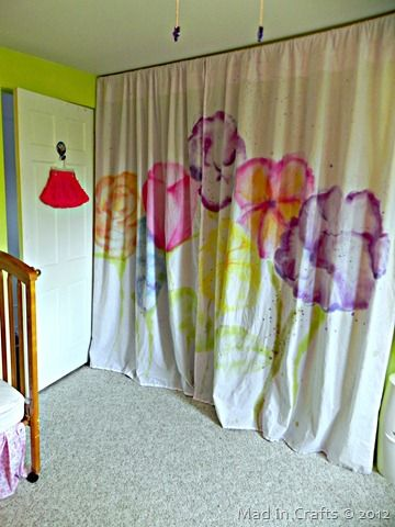 Pretty watercolor curtains: Fairy's room