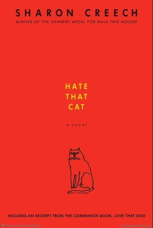 Hate that Cat by Sharon Creech.