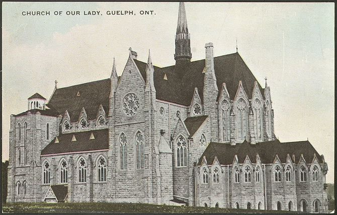 Guelph: Church of Our Lady Immaculate - Prior to the new additions that would come after the first world war.