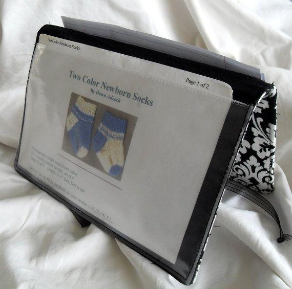 Knitting Pattern Keeper : Pattern Wallet Knitting Pattern Keeper Chart Helper Black ...