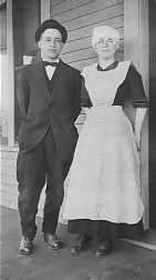 Victorian Butler and housekeeper