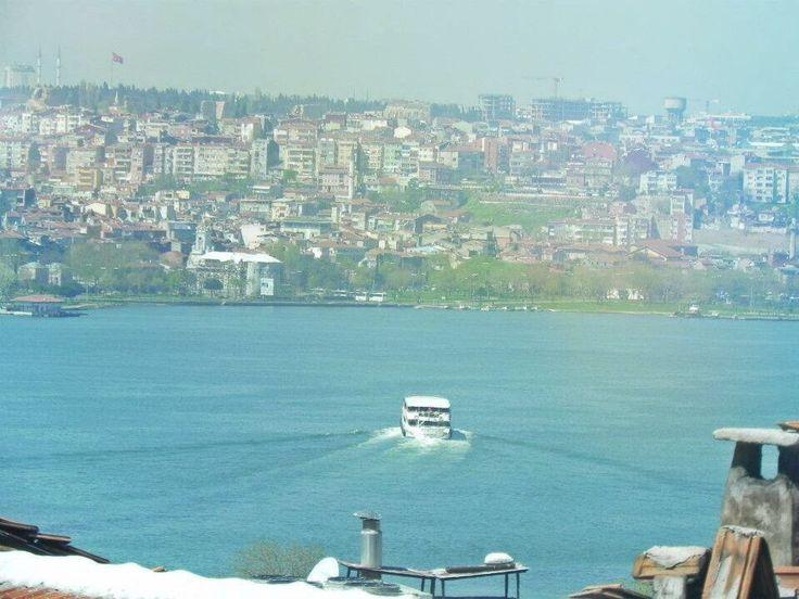 Bosphorus in Istanbul #Turkey #Istanbul #Bosphorus #sky #blue #Turkish #rivers