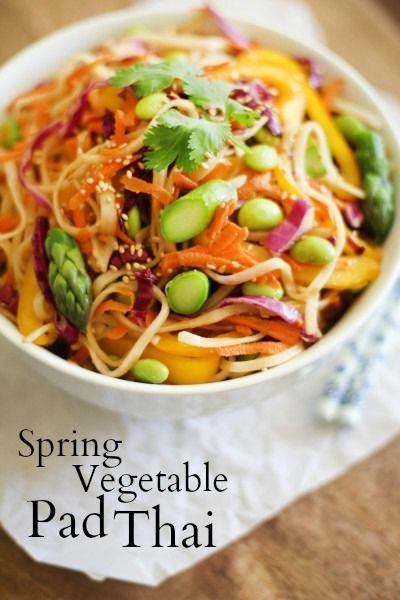 Spring Vegetable Pad Thai #vegetarian #easyrecipe