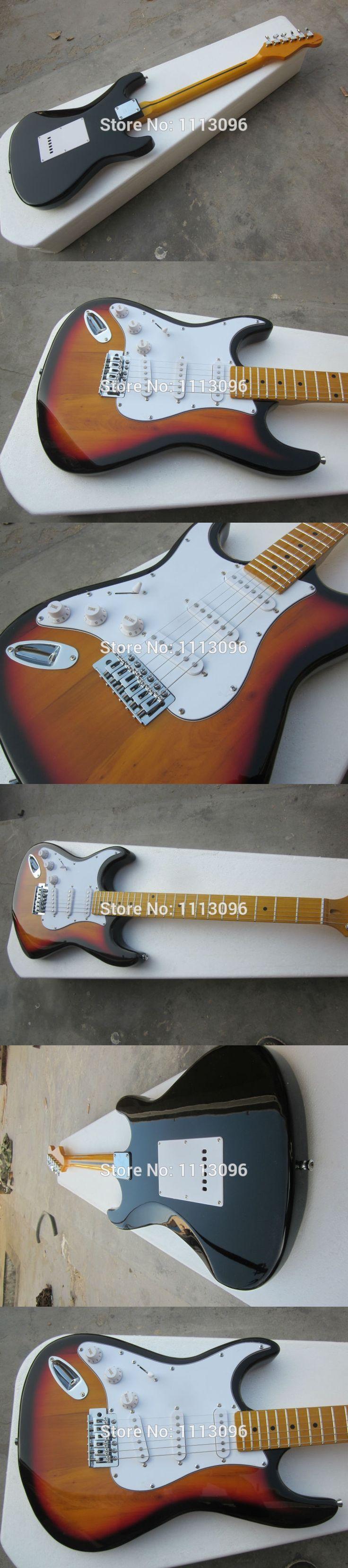 Free shipping wholsale NEW guitarra st guitarra sunburse color maple neck left hand electric