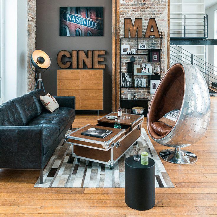 Muebles y decoraci n de interiores industrial maisons for Imitacion ladrillo para interiores