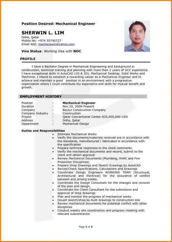 Chemical Engineering Resume Mechanical Engineer Resume Engineering Resume Resume Examples