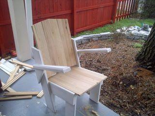 furniture deck. custom wood shabby chic patio chair deck porch furniture by brad e