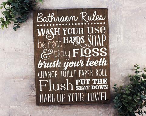 Wash Soak Relax Wood Sign Bathroom Sign Bathroom Wall Art Bathroom Wood Sign Rustic Bathroom D Cor