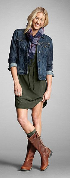 Cute weekend outfit. Would probably wear leggings, too. | Eddie Bauer