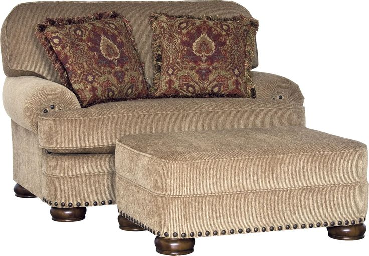 3620 Traditional Chair and Ottoman Set by Mayo  We both like this color.