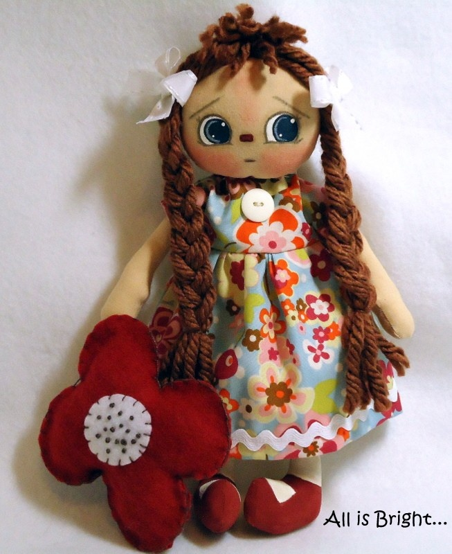 Dolls by All is Bright - www.allisbrightcrafts.blogspot.com