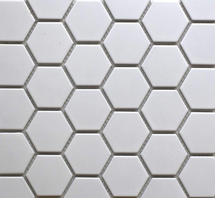 17 Best Ideas About White Hexagonal Tile On Pinterest