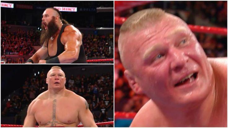 WWE No Mercy results: WWE Universal Championship match – Brock Lesnar vs. Braun Strowman